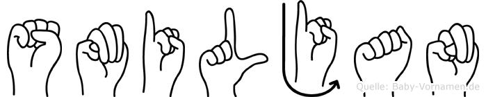 Smiljan in Fingersprache für Gehörlose
