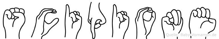 Scipione in Fingersprache für Gehörlose