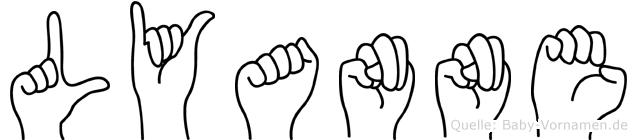 Lyanne in Fingersprache für Gehörlose