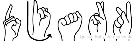 Djark in Fingersprache für Gehörlose