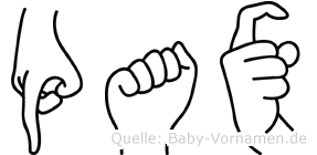 Pax im Fingeralphabet der Deutschen Gebärdensprache