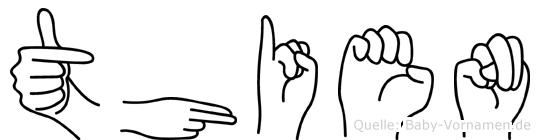 Thien in Fingersprache für Gehörlose