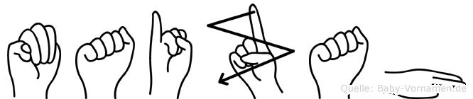 Maizah im Fingeralphabet der Deutschen Gebärdensprache