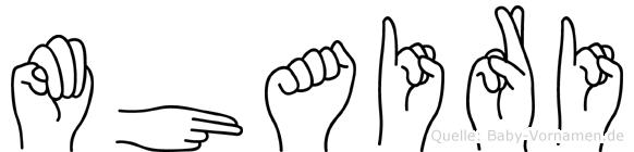 Mhairi in Fingersprache für Gehörlose