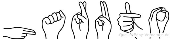 Haruto im Fingeralphabet der Deutschen Gebärdensprache