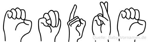 Endre in Fingersprache für Gehörlose