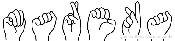 Mareka in Fingersprache für Gehörlose