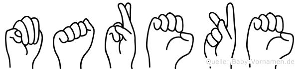 Mareke in Fingersprache für Gehörlose