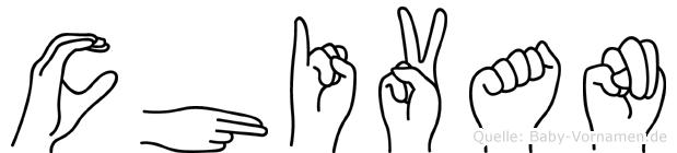Chivan im Fingeralphabet der Deutschen Gebärdensprache