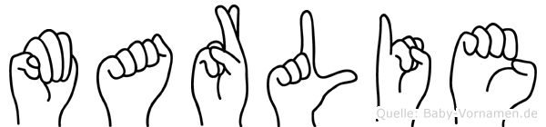 Marlie im Fingeralphabet der Deutschen Gebärdensprache
