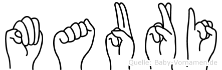 Mauri in Fingersprache für Gehörlose