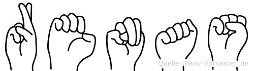 Renas im Fingeralphabet der Deutschen Gebärdensprache