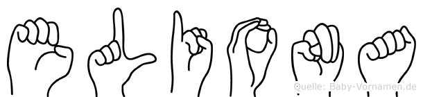 Eliona in Fingersprache für Gehörlose