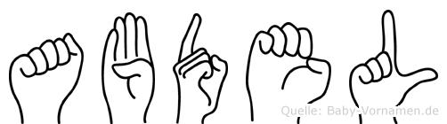 Abdel in Fingersprache für Gehörlose
