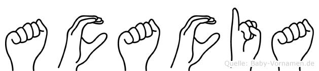 Acacia in Fingersprache für Gehörlose