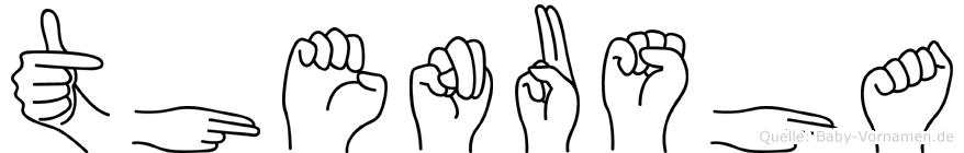 Thenusha in Fingersprache für Gehörlose