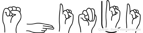 Shinji in Fingersprache für Gehörlose