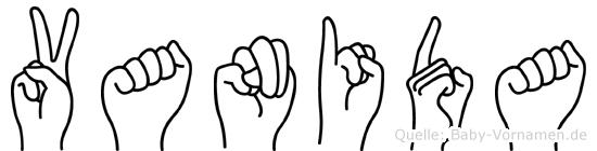 Vanida in Fingersprache für Gehörlose