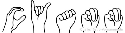 Cyann in Fingersprache für Gehörlose