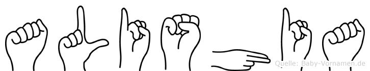 Alishia in Fingersprache für Gehörlose