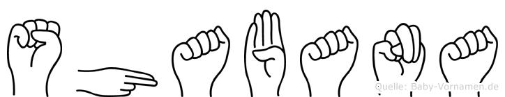 Shabana in Fingersprache für Gehörlose