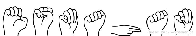Esmahan im Fingeralphabet der Deutschen Gebärdensprache