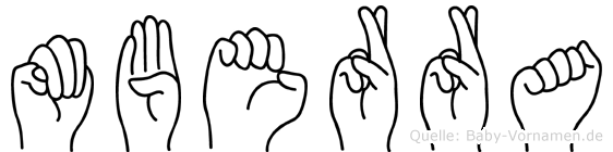 Müberra im Fingeralphabet der Deutschen Gebärdensprache
