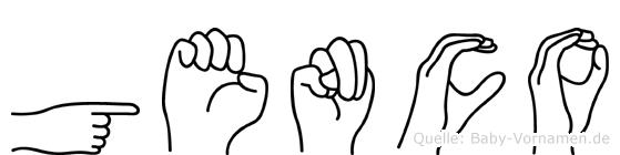 Genco in Fingersprache für Gehörlose