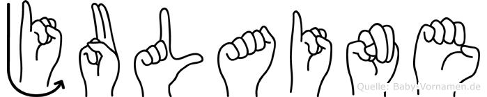 Julaine in Fingersprache für Gehörlose