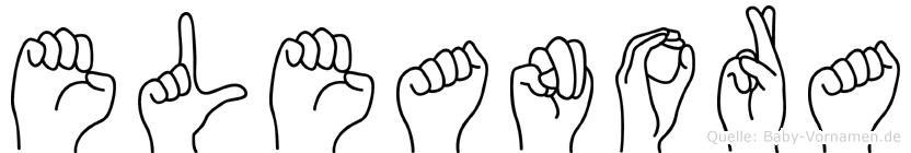 Eleanora im Fingeralphabet der Deutschen Gebärdensprache