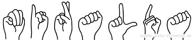 Miralda in Fingersprache für Gehörlose