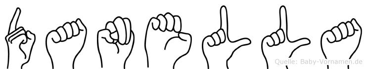Danella im Fingeralphabet der Deutschen Gebärdensprache