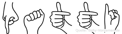 Patti in Fingersprache für Gehörlose
