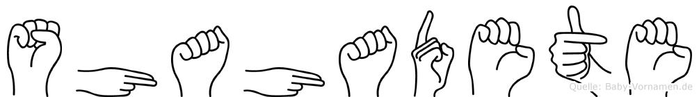 Shahadete im Fingeralphabet der Deutschen Gebärdensprache