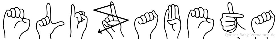 Elizabeta in Fingersprache für Gehörlose