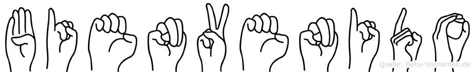 Bienvenido im Fingeralphabet der Deutschen Gebärdensprache
