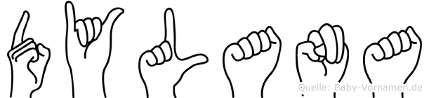 Dylana im Fingeralphabet der Deutschen Gebärdensprache