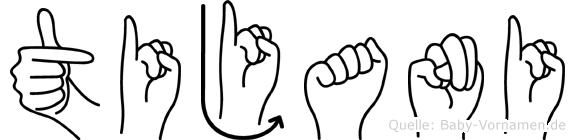 Tijani im Fingeralphabet der Deutschen Gebärdensprache