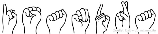 Isandra in Fingersprache für Gehörlose
