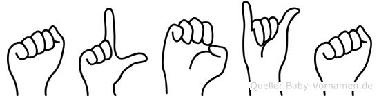 Aleya im Fingeralphabet der Deutschen Gebärdensprache