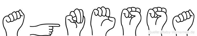 Agnessa im Fingeralphabet der Deutschen Gebärdensprache