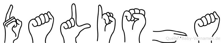 Dalisha im Fingeralphabet der Deutschen Gebärdensprache