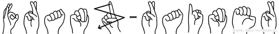 Franz-Rainer im Fingeralphabet der Deutschen Gebärdensprache