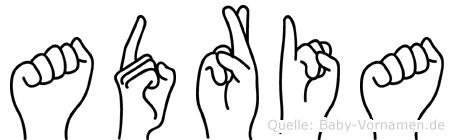 Adria im Fingeralphabet der Deutschen Gebärdensprache