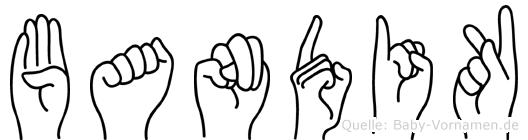 Bandik in Fingersprache für Gehörlose