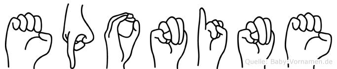 Eponine in Fingersprache für Gehörlose