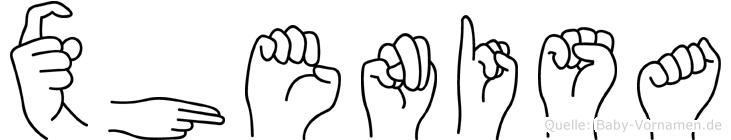 Xhenisa im Fingeralphabet der Deutschen Gebärdensprache