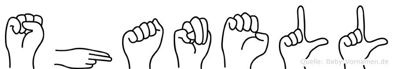 Shanell im Fingeralphabet der Deutschen Gebärdensprache