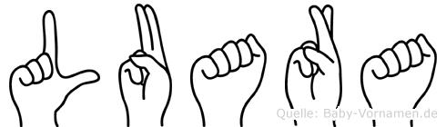 Luara in Fingersprache für Gehörlose