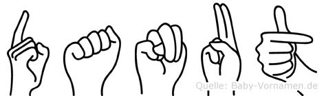 Danut im Fingeralphabet der Deutschen Gebärdensprache